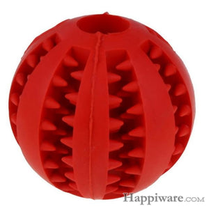 Puppy Elasticity Tooth Cleaning Balls Toys For Dogs - Red / 5 cm