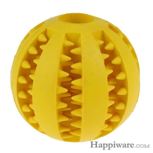 Puppy Elasticity Tooth Cleaning Balls Toys For Dogs - Yellow / 5 cm