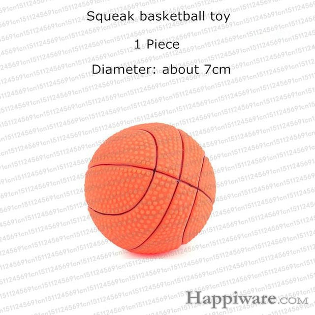 Rubber Squeak for Dog Screaming Chicken Chew Toys - basketball dog toy / Size as picture show