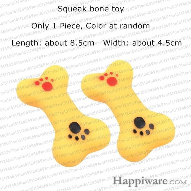 Rubber Squeak for Dog Screaming Chicken Chew Toys - squeak bone toy / Size as picture show