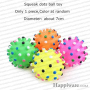 Rubber Squeak for Dog Screaming Chicken Chew Toys - squeak dots ball toy / Size as picture show