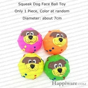 Rubber Squeak for Dog Screaming Chicken Chew Toys - dog face ball toy / Size as picture show