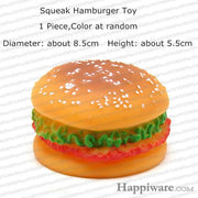 Rubber Squeak for Dog Screaming Chicken Chew Toys - hamburger toy / Size as picture show