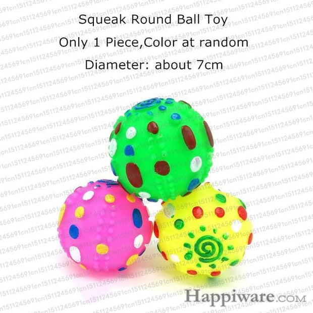 Rubber Squeak for Dog Screaming Chicken Chew Toys - round ball toy / Size as picture show