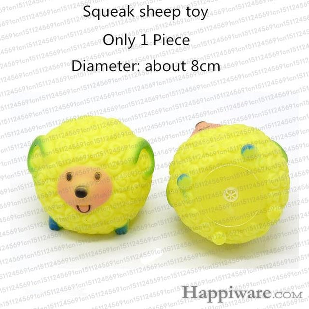 Rubber Squeak for Dog Screaming Chicken Chew Toys - squeak sheep toy / Size as picture show