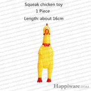 Rubber Squeak for Dog Screaming Chicken Chew Toys - screaming chicken / Size as picture show