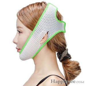 Slimming Belt V-Line Face Lifting Mask Bandage - Green