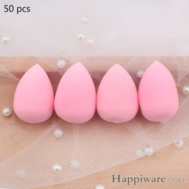 Soft Foundation Puff Concealer Cosmetic Makeup Sponge - Pink 50pcs