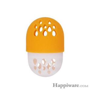 Soft Silicone Powder Puff Drying Holder Egg Stand Beauty Pad - orange