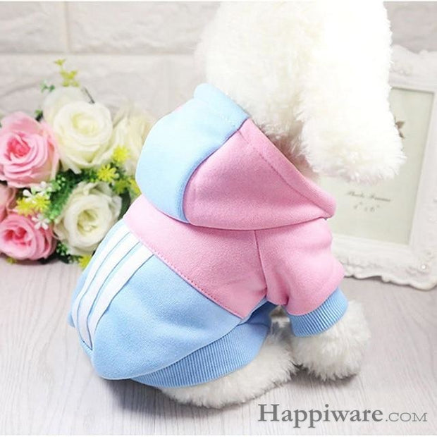 Soft Winter Warm Pet Dog Clothe - pink-blue / XXL