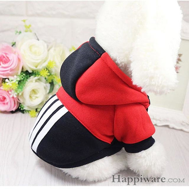 Soft Winter Warm Pet Dog Clothe - red-black / XXL