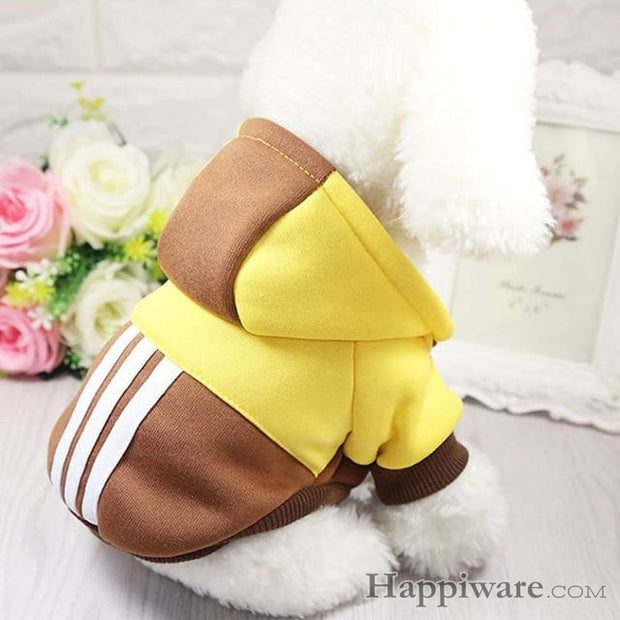 Soft Winter Warm Pet Dog Clothe - yellow-brown / XXL