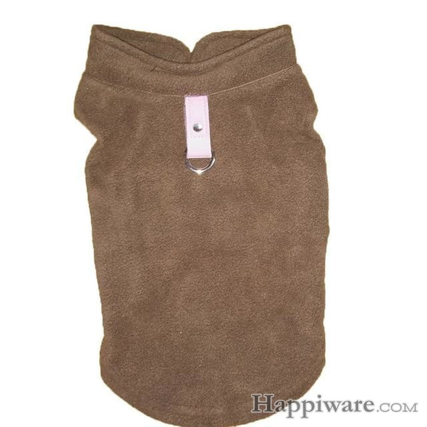 Winter Fleece Pet Clothes for Dogs Puppy Clothing - Coffee / L