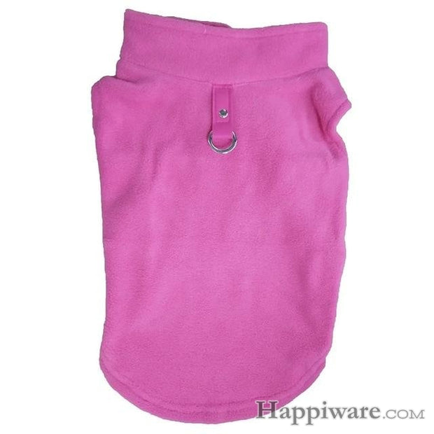 Winter Fleece Pet Clothes for Dogs Puppy Clothing - Pink / L