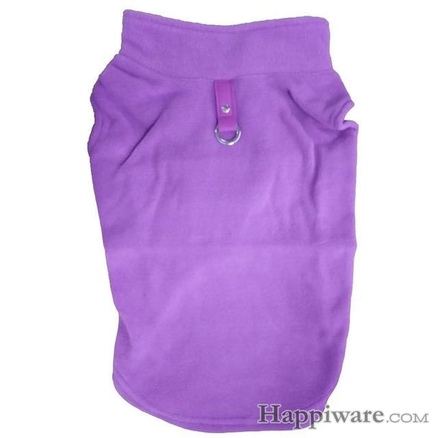 Winter Fleece Pet Clothes for Dogs Puppy Clothing - Purple / L