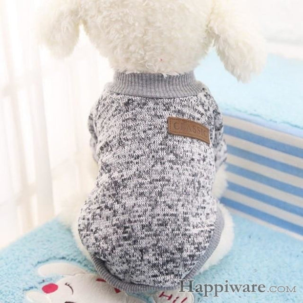 Winter Soft Sweater Clothing For Small Dogs - H / L / China