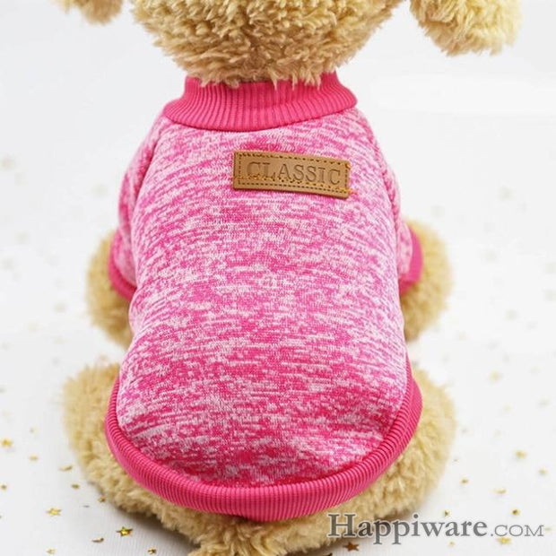 Winter Warm Coat Classic Sweater Fleece Clothing - rose / S
