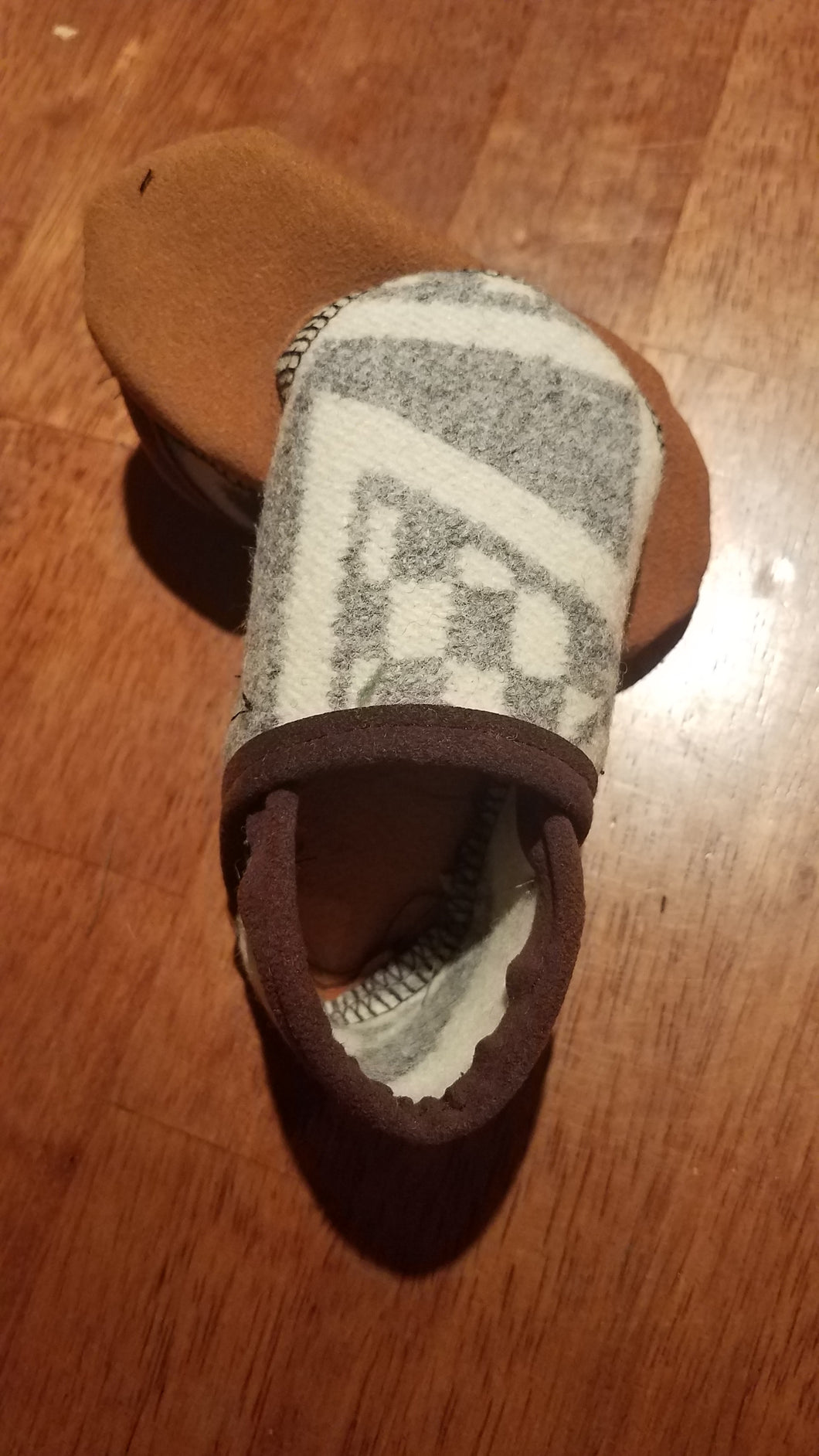 Baby Moccasins - Pendelton wool, Diamond Ridge