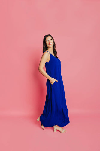 Around Town Maxi Dress - Royal Blue