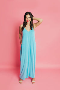 Around Town Maxi Dress - Milky Blue