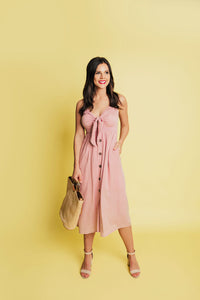 Instant Romance Button Down Dress -Pink