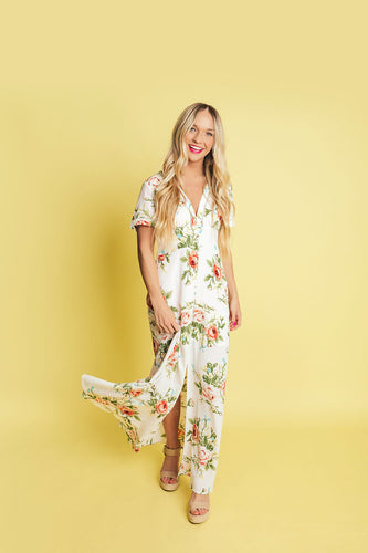 Falling Into You Floral Dress
