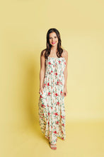 Load image into Gallery viewer, So This Is Love Smocked Floral Maxi - Ivory