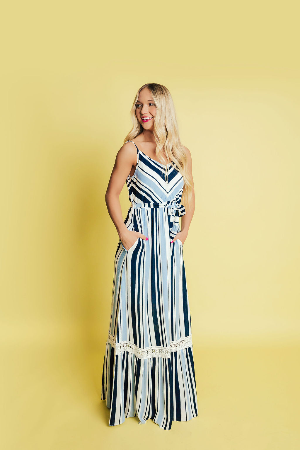 Love Like Crazy Maxi Dress- Blue