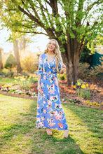 Load image into Gallery viewer, Fearless Floral Maxi Dress- Blue
