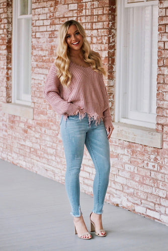 Makenna Frayed High Waist Skinny