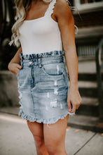 Load image into Gallery viewer, Hadley Distressed Denim Skirt