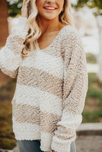 Load image into Gallery viewer, Gather Together Stripe Sweater-Taupe