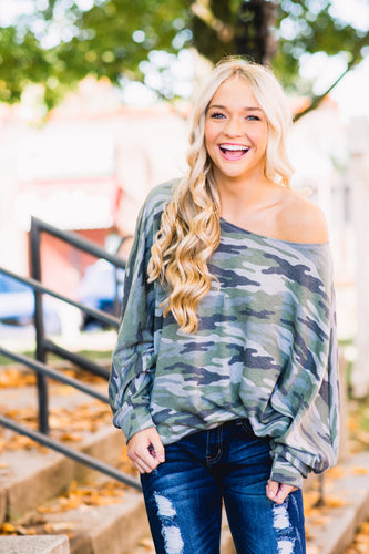 Small Town Girl Camo Top