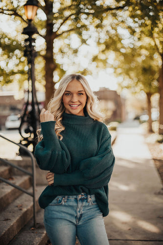 Sweater Weather Knit-Teal