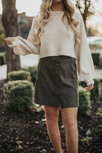 Load image into Gallery viewer, All About The Corduroy Skirt- Olive