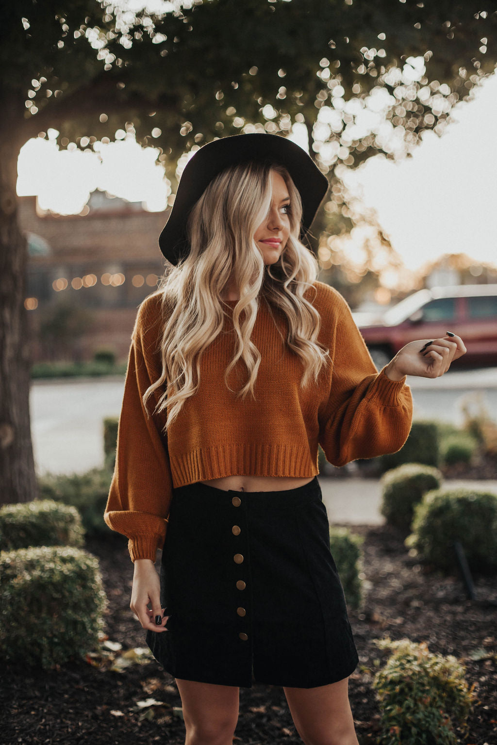 All About The Corduroy Skirt- Black