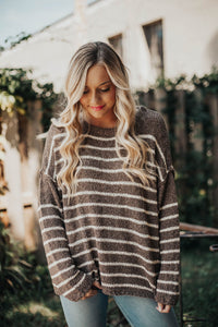 Spice Things Up Striped Knit Sweater
