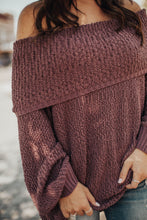 Load image into Gallery viewer, Up for Anything Knit Sweater-Mauve