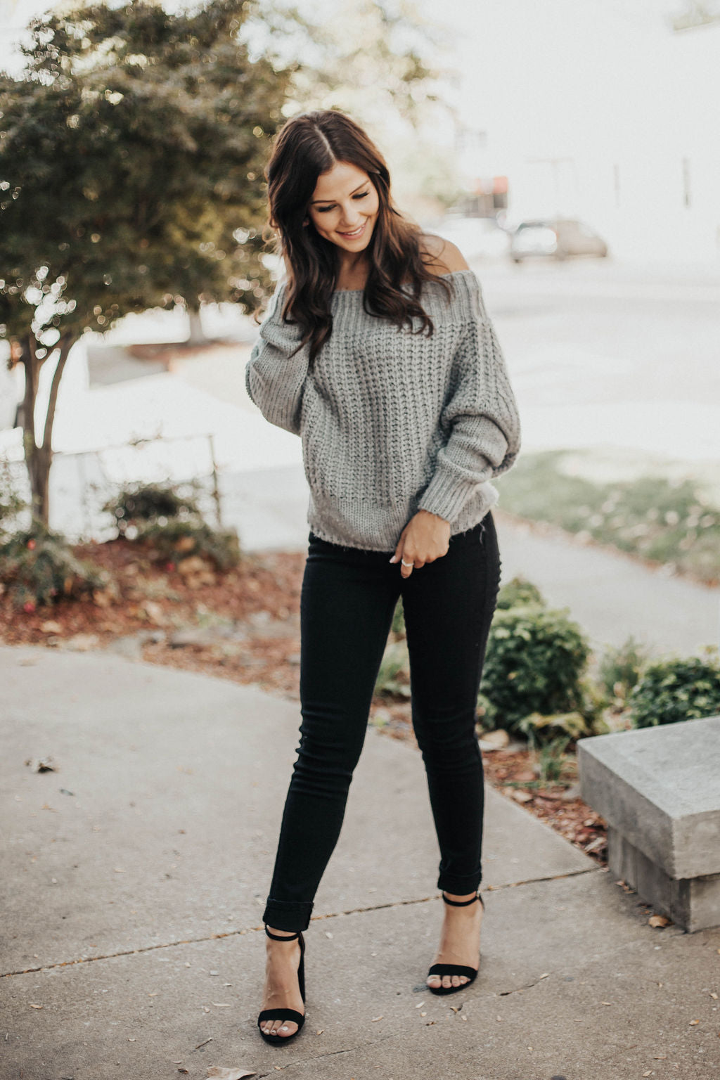 Make You Blush Off The Shoulder Sweater