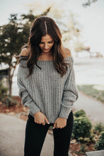 Load image into Gallery viewer, Make You Blush Off The Shoulder Sweater