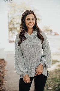 Smitten For You Cowl Neck Sweater