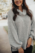 Load image into Gallery viewer, Smitten For You Cowl Neck Sweater