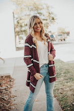 Load image into Gallery viewer, Cabin Fever Striped Pocketed Cardigan