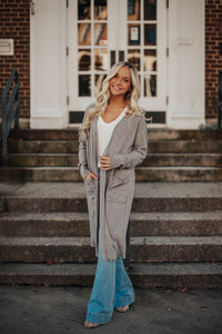 Everyday Thermal Cardigan - Grey
