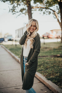 Everyday Thermal Cardigan - Olive