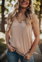 Load image into Gallery viewer, Fierce and Fab Lace Cami Tank - Blush