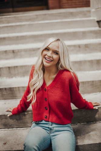 Easy Trendy Sweater- Red