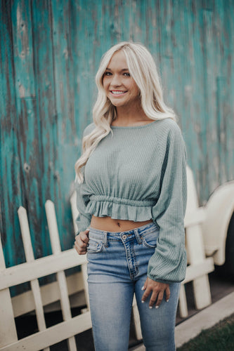 Love Connection Top- Teal Green