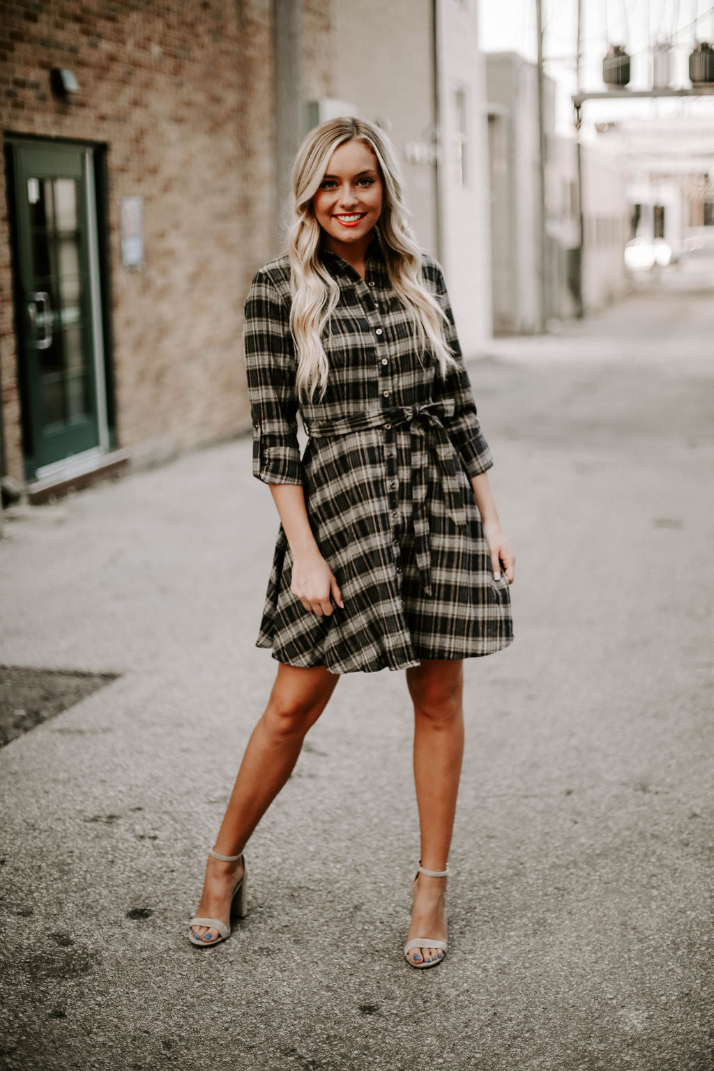 Keep It Cute Plaid Dress