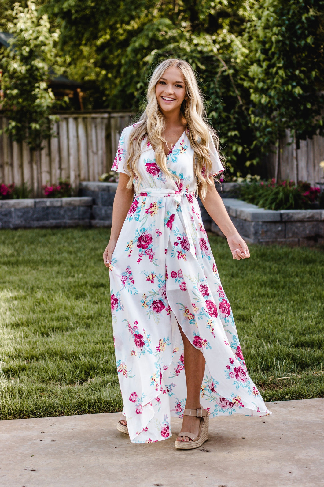 Lovely Day Floral Wrap Dress